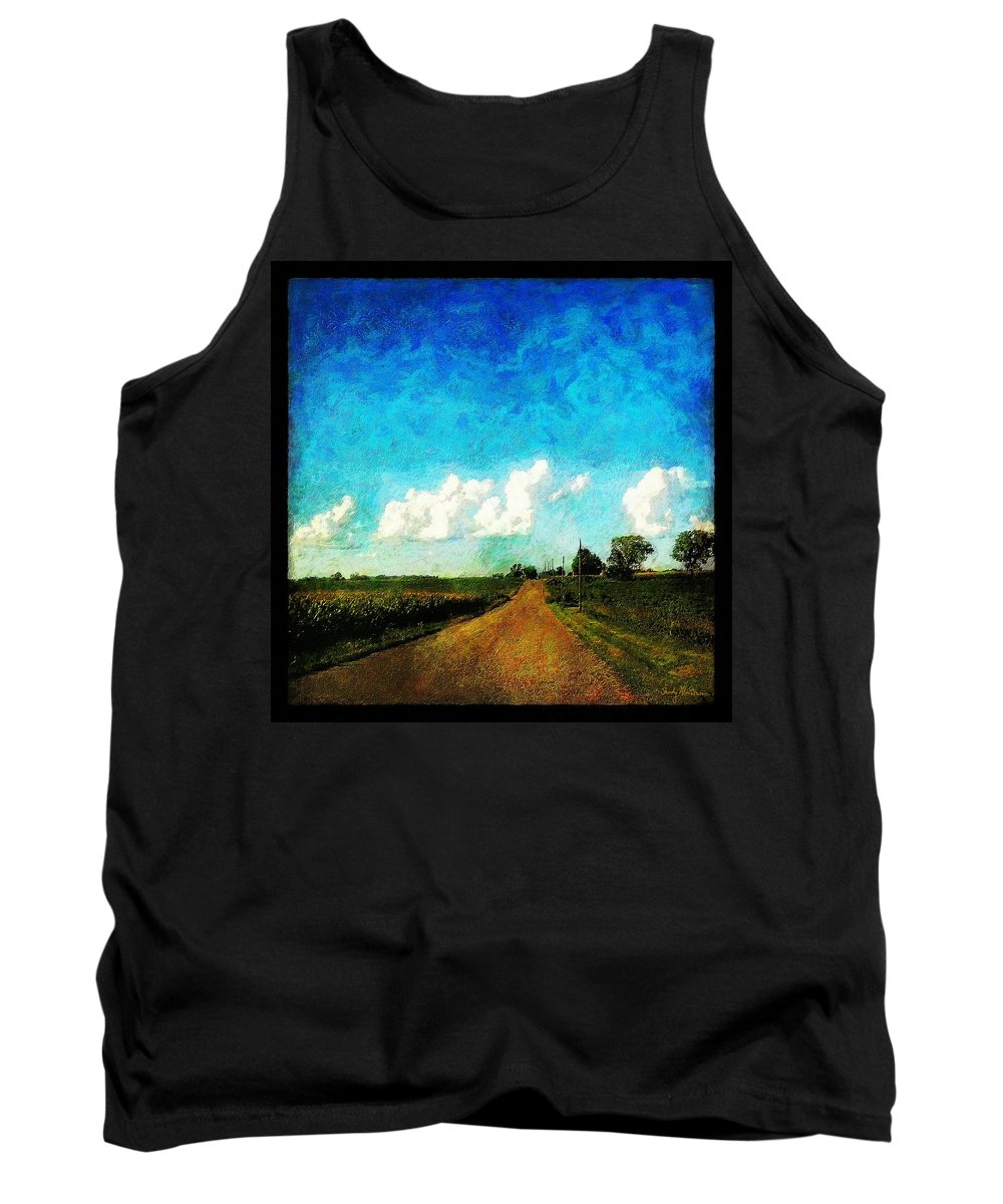 Clouds Tank Top featuring the painting Follow the Leader by Sandy MacGowan