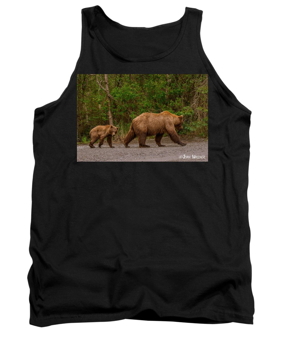 Alaska Tank Top featuring the photograph Following Mom Closely by Joan Wallner