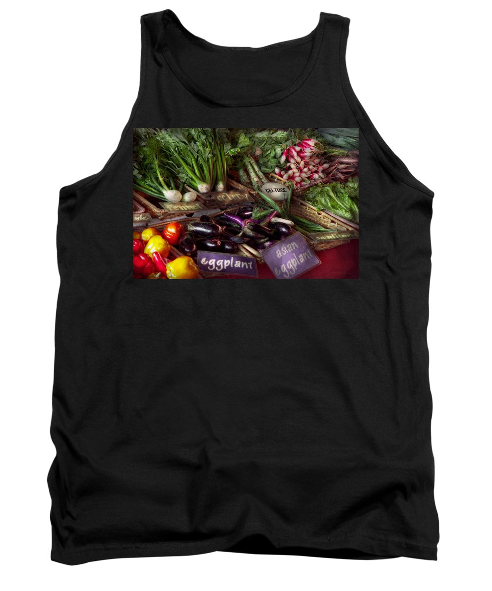 Vegetable Tank Top featuring the photograph Food - Vegetables - Very Fresh Produce by Mike Savad