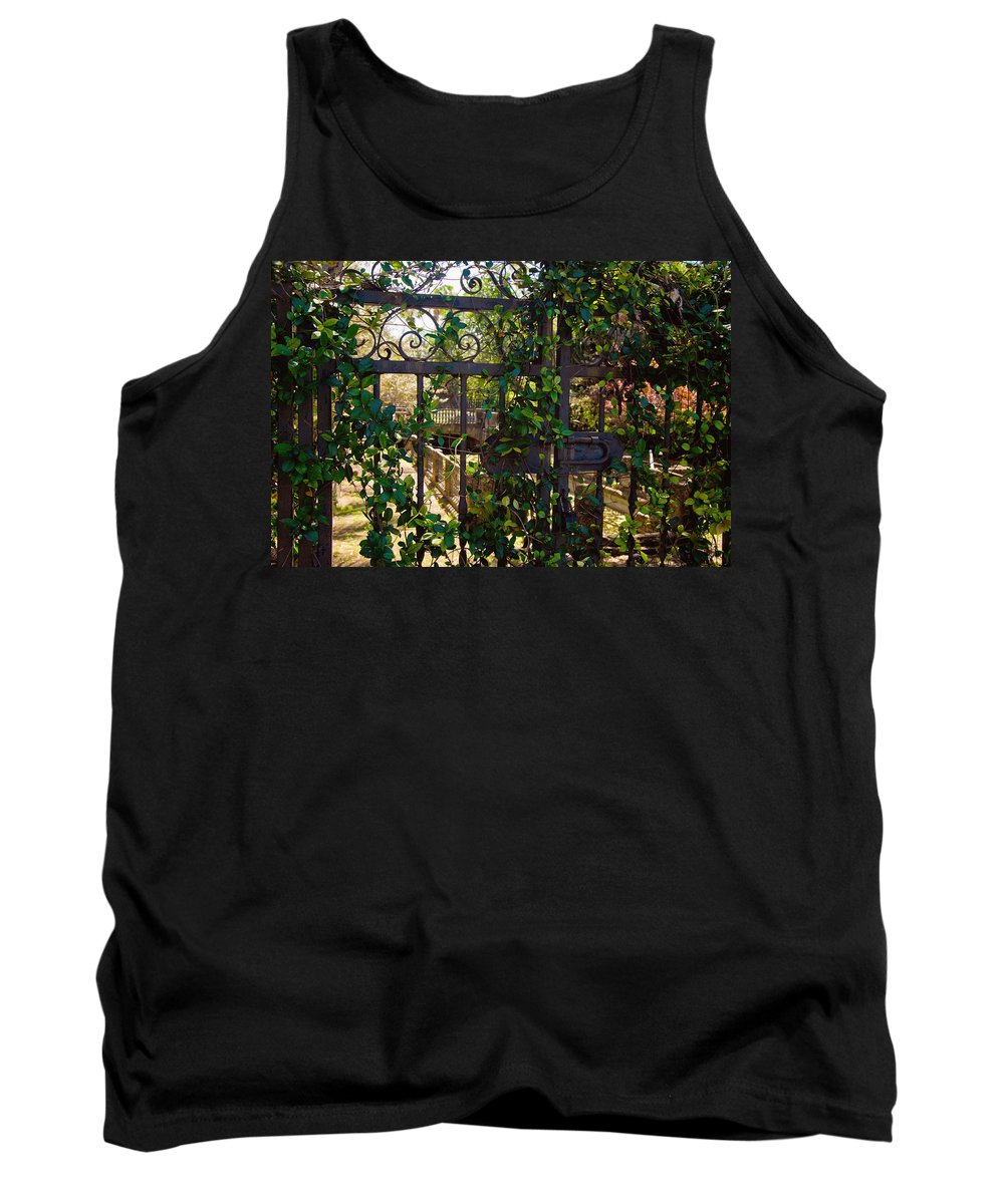 Garden Tank Top featuring the photograph Forbidden Garden by Vanessa Valdes