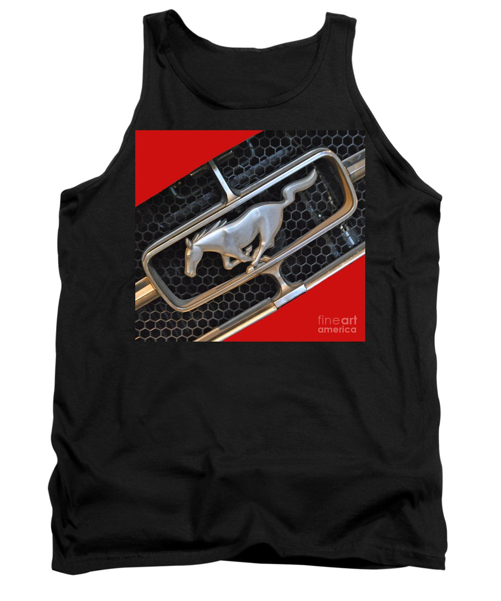 Ford Tank Top featuring the photograph Ford Mustang by Jost Houk