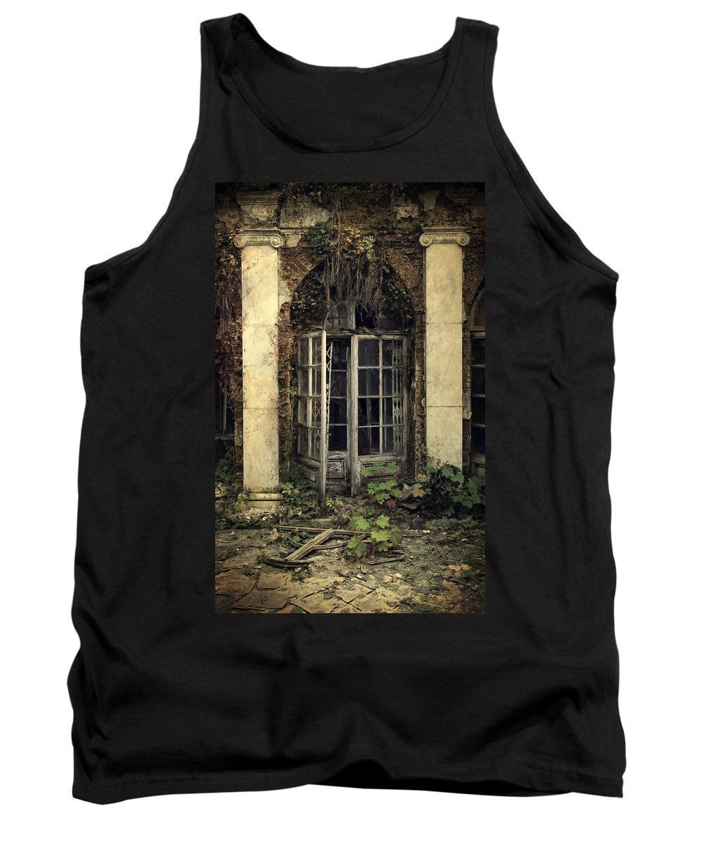 Architecture Tank Top featuring the photograph Forgotten Chamber by Jaroslaw Blaminsky
