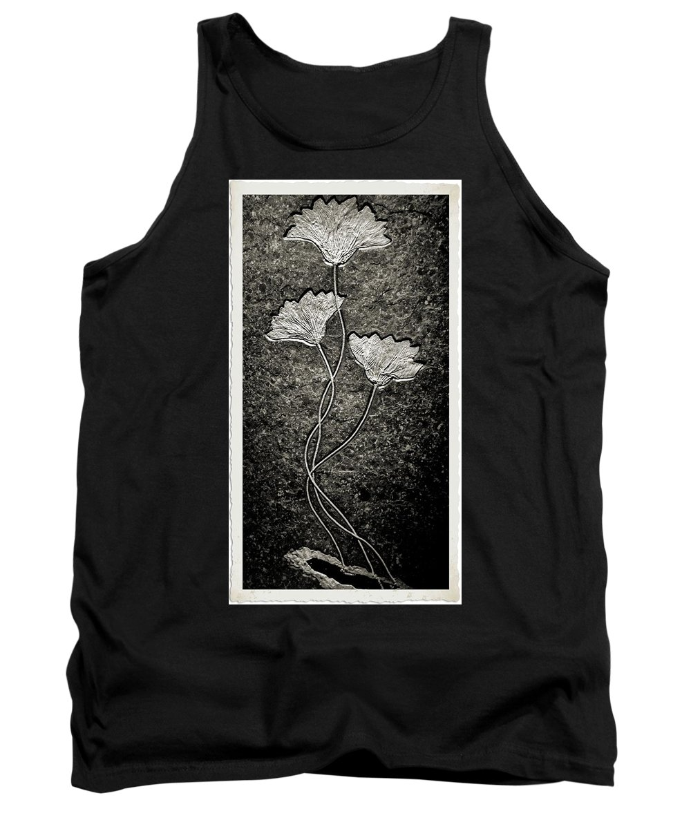 Fossilized Flowers Tank Top featuring the photograph Fossilized Flowers by Dan Sproul