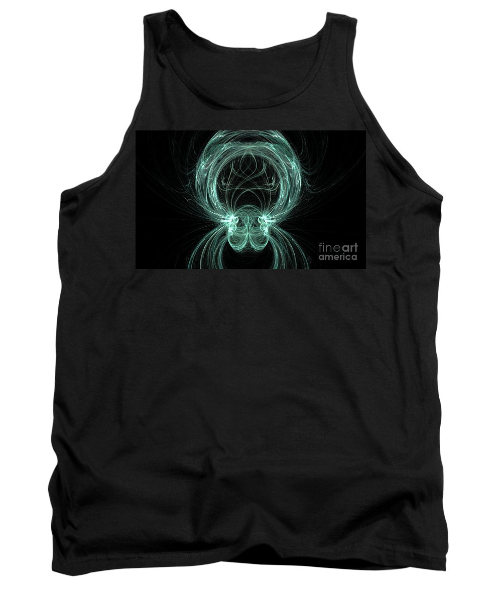 Fractal 081 Tank Top featuring the digital art Fractal 081 by Taylor Webb