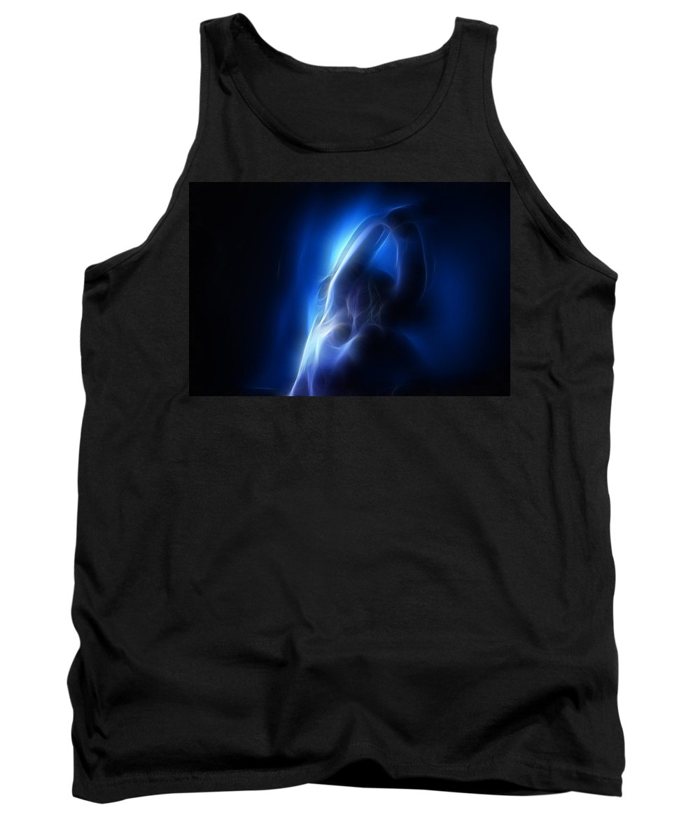 Nude Tank Top featuring the photograph Fractal Nude 4030 by Timothy Bischoff