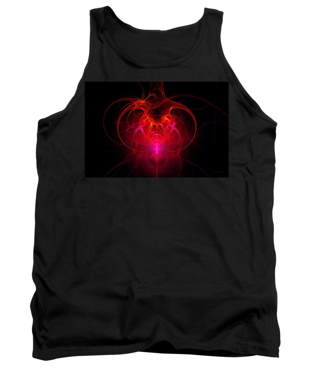 Abstract Tank Top featuring the digital art Fractal - Science - The Neural Network by Mike Savad
