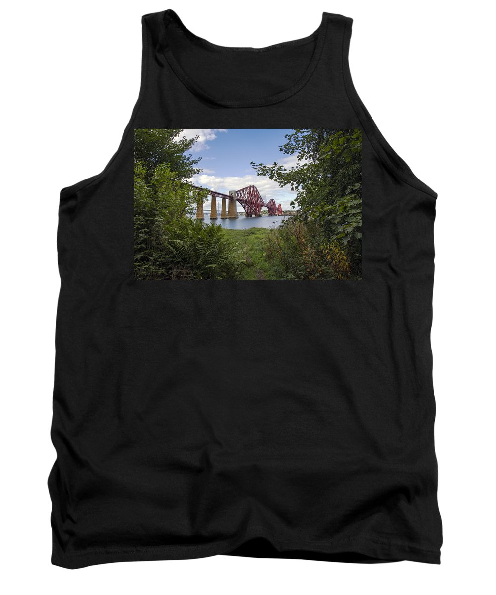Berthed Tank Top featuring the photograph Framing The Forth Bridge by Ross G Strachan