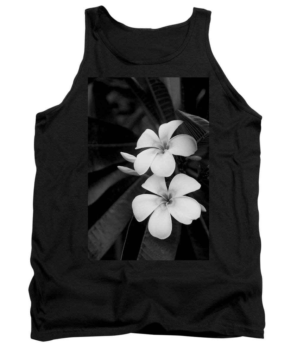 Blossom Tank Top featuring the photograph Frangipani Blossoms by Jim Lipschutz
