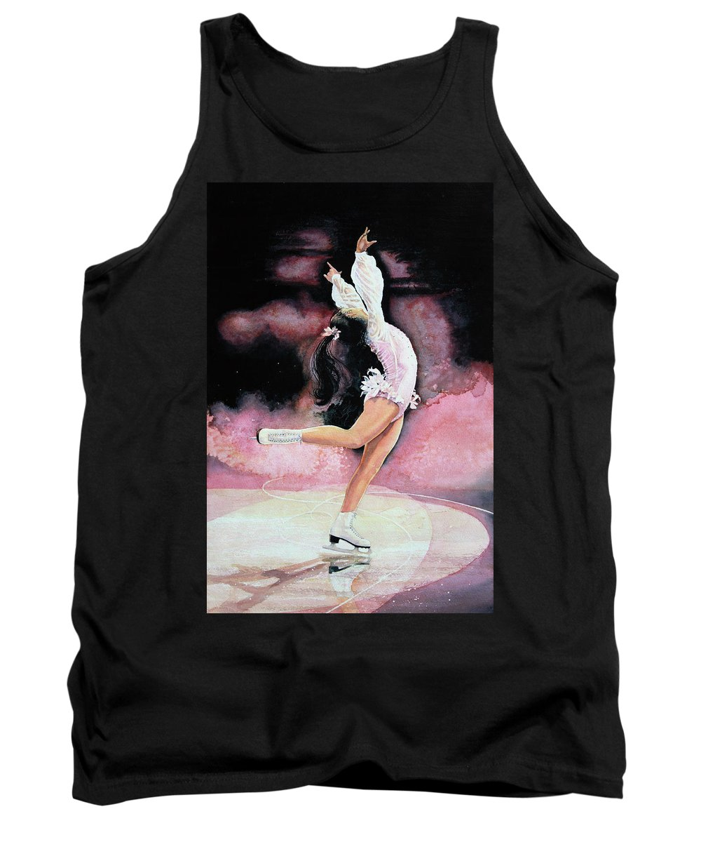 Skating Tank Top featuring the painting Free Spirit by Hanne Lore Koehler