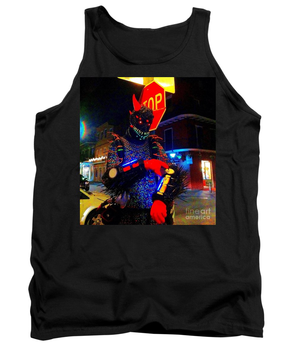 French Quarter Tank Top featuring the photograph French Quarter Monster U Have The Time by Saundra Myles