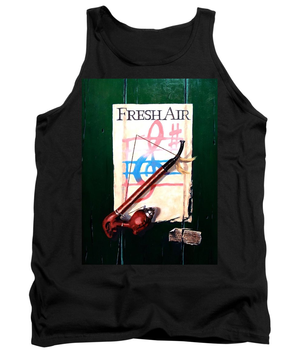Still Life Tank Top featuring the painting Fresh Air by Jim Gola