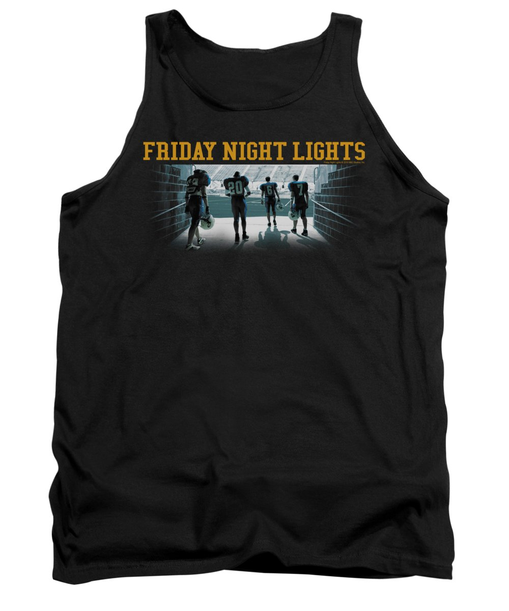 Friday Night Lights Tank Top featuring the digital art Friday Night Lts - Game Time by Brand A