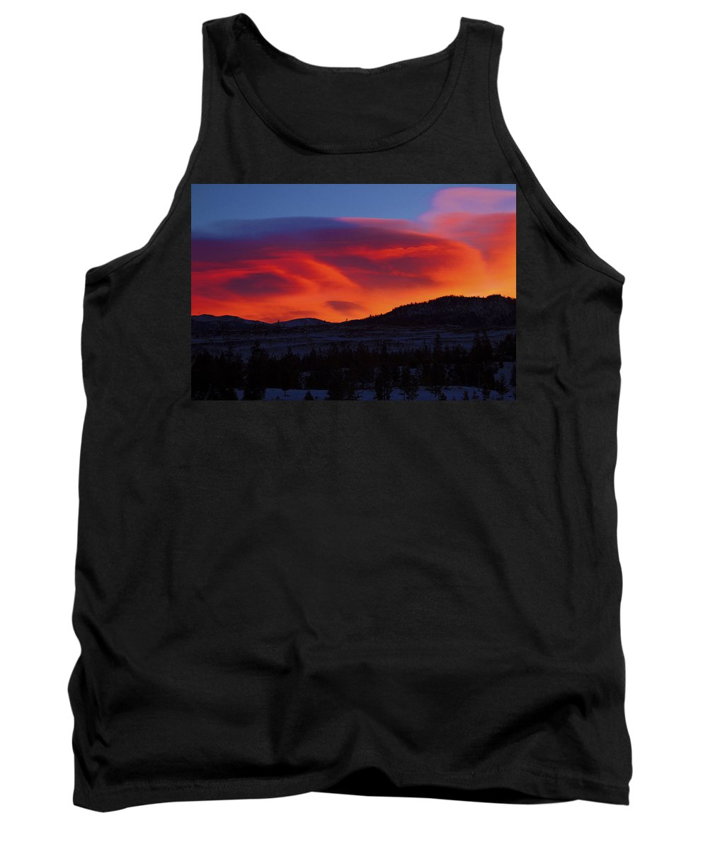 Sun Tank Top featuring the photograph Frisco Sunrise by Terry Fiala