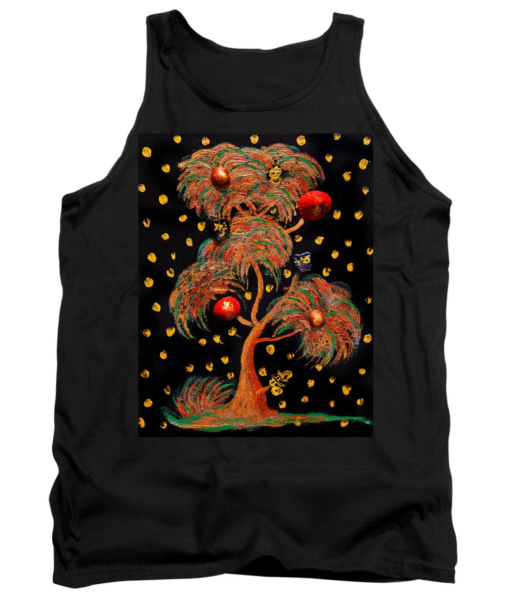 Tree Tank Top featuring the painting From The Irish Sea 1 by Alex Art and Photo