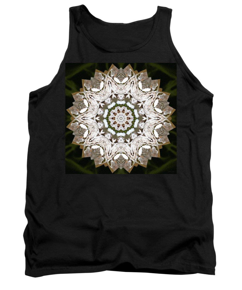 Sacredlife Mandalas Tank Top featuring the photograph Frozen Earth by Derek Gedney