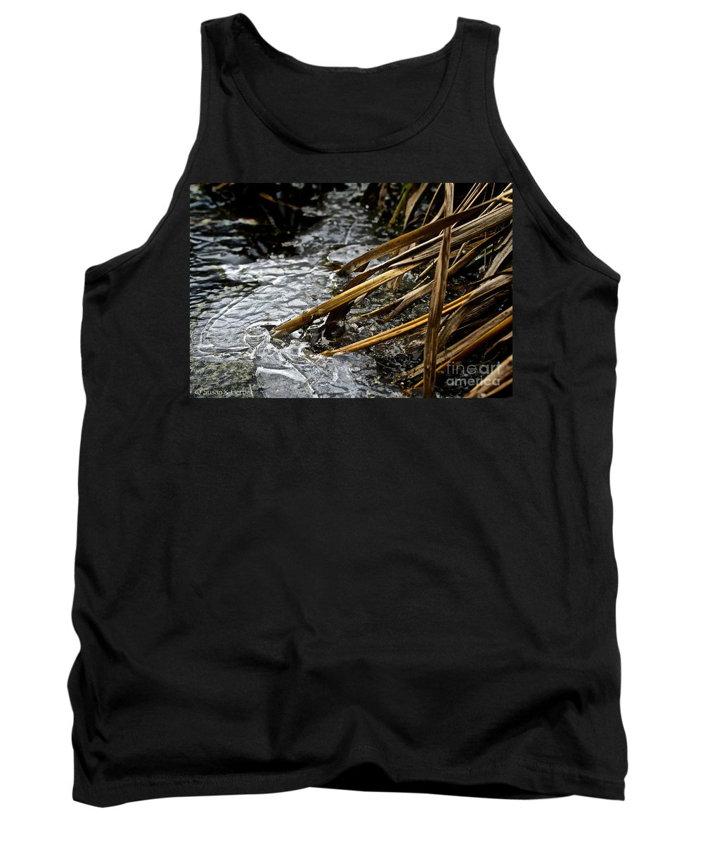 Outdoors Tank Top featuring the photograph Frozen Edges And Ends by Susan Herber