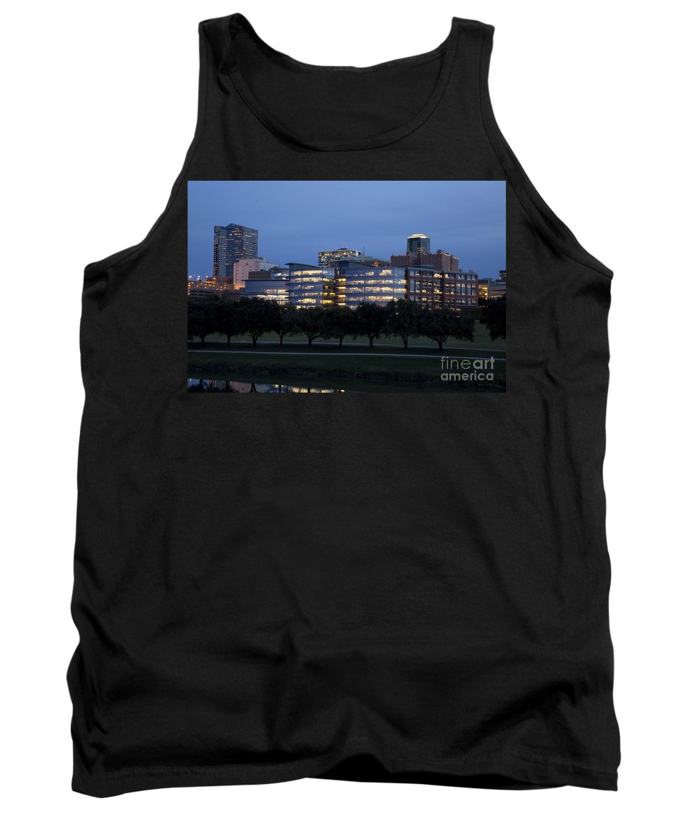 Pioneers Tank Top featuring the photograph Ft. Worth Texas Skyline by Greg Kopriva