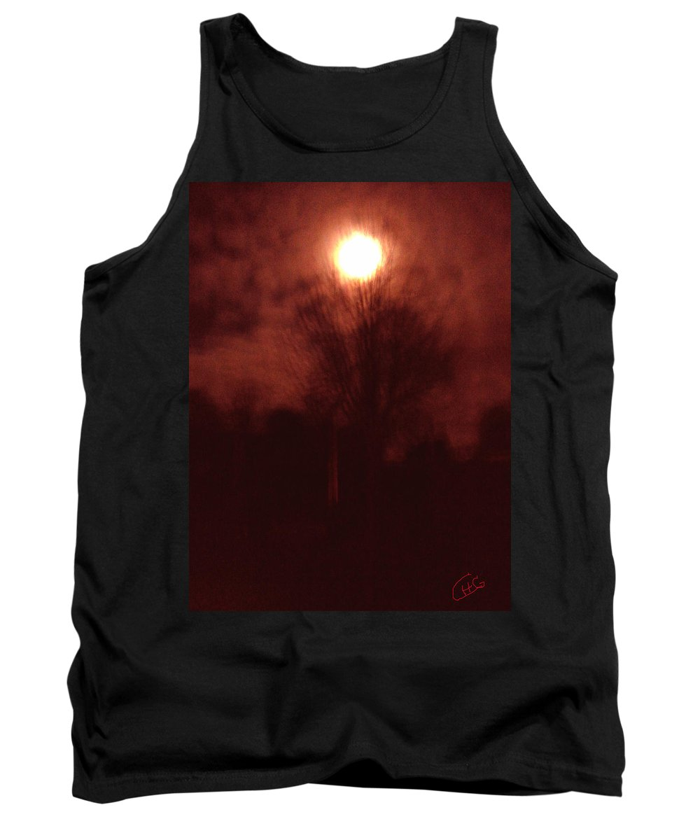 Colette Tank Top featuring the photograph Full Moon Midnight In Garden Denmark by Colette V Hera Guggenheim