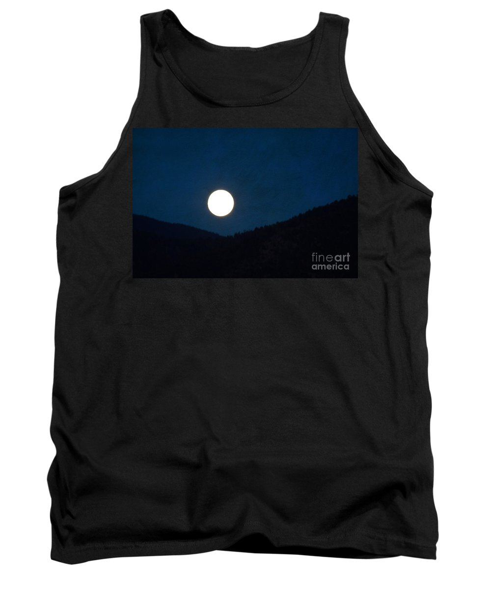 Moon Tank Top featuring the photograph Full Moon Tonight by Roselynne Broussard