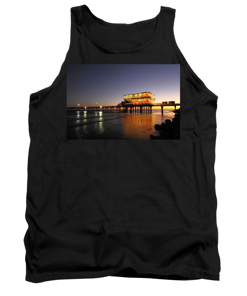 Texas Tank Top featuring the photograph Galveston Fishing Pier 2am-108856 by Andrew McInnes
