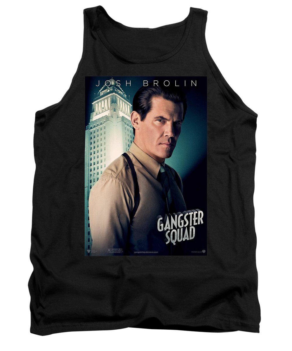 Gangster Squad Tank Top featuring the photograph Gangster Squad Brolin by Movie Poster Prints