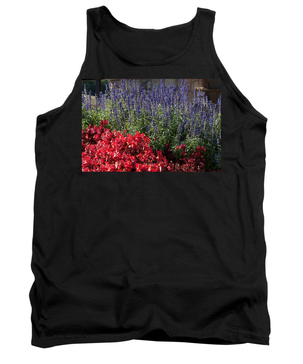 Yonah Mountain Tank Top featuring the photograph Garden At Yonah Mountain by Spencer Studios