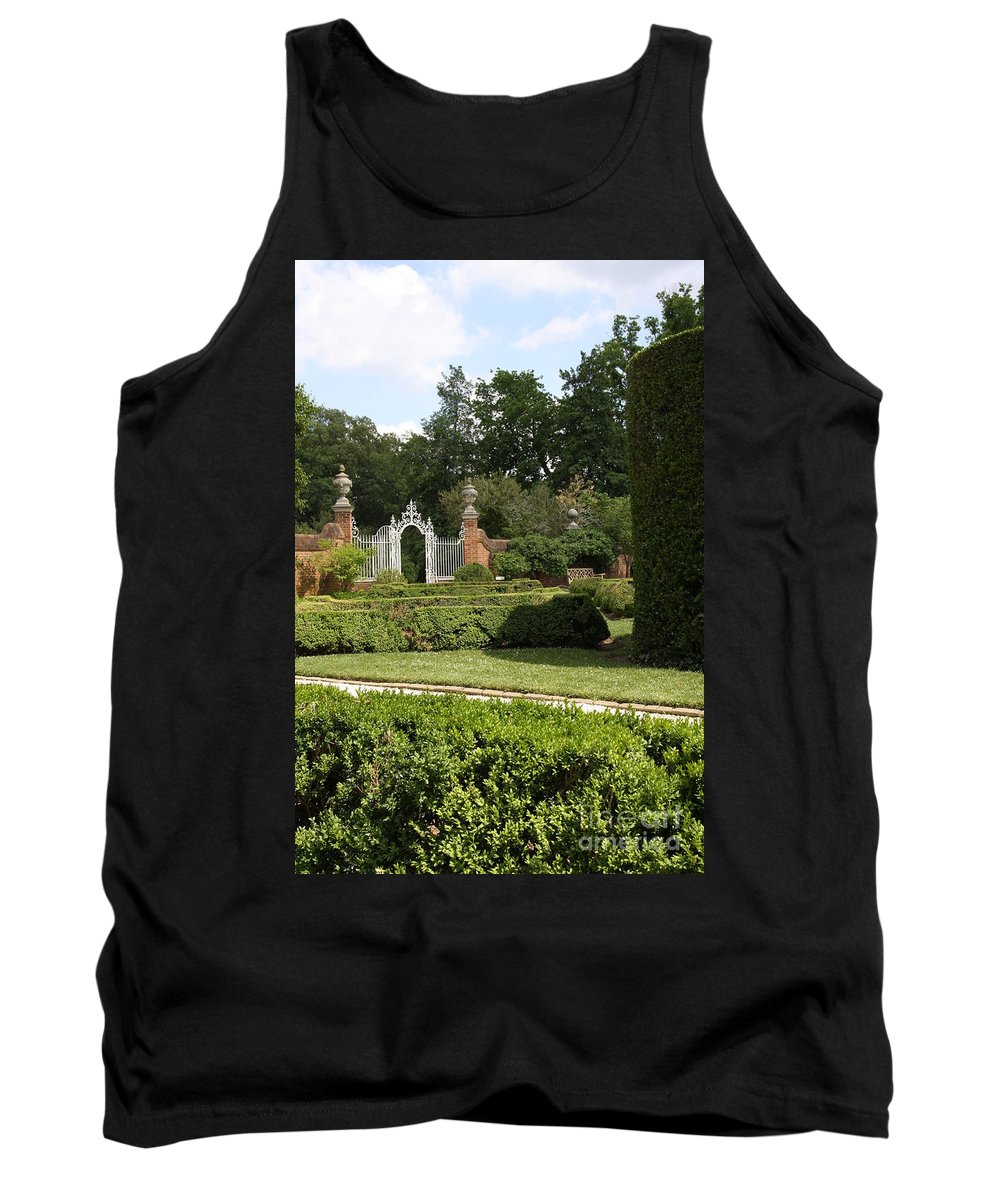 Gate Tank Top featuring the photograph Garden Gate Governers Palace by Christiane Schulze Art And Photography