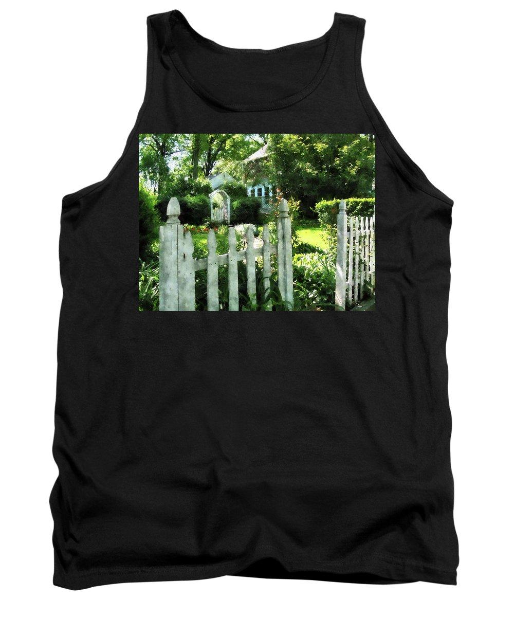 Garden Tank Top featuring the photograph Garden Gate by Susan Savad