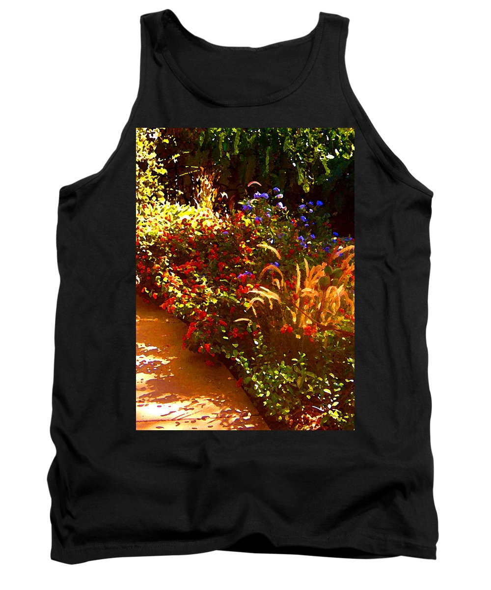 Tank Top featuring the painting Garden Pathway by Amy Vangsgard