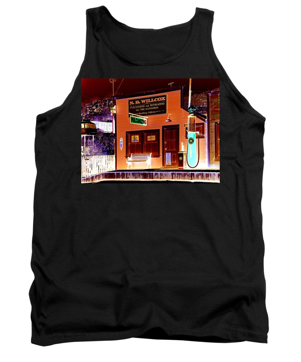 Randsburg Tank Top featuring the photograph Gas Station by Diana Hughes