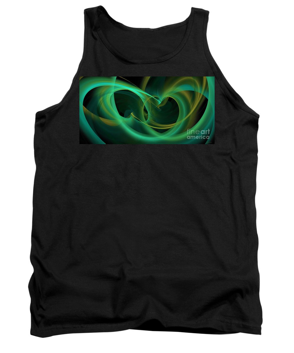 Gathering Hearts Tank Top featuring the digital art Gathering Hearts by Elizabeth McTaggart