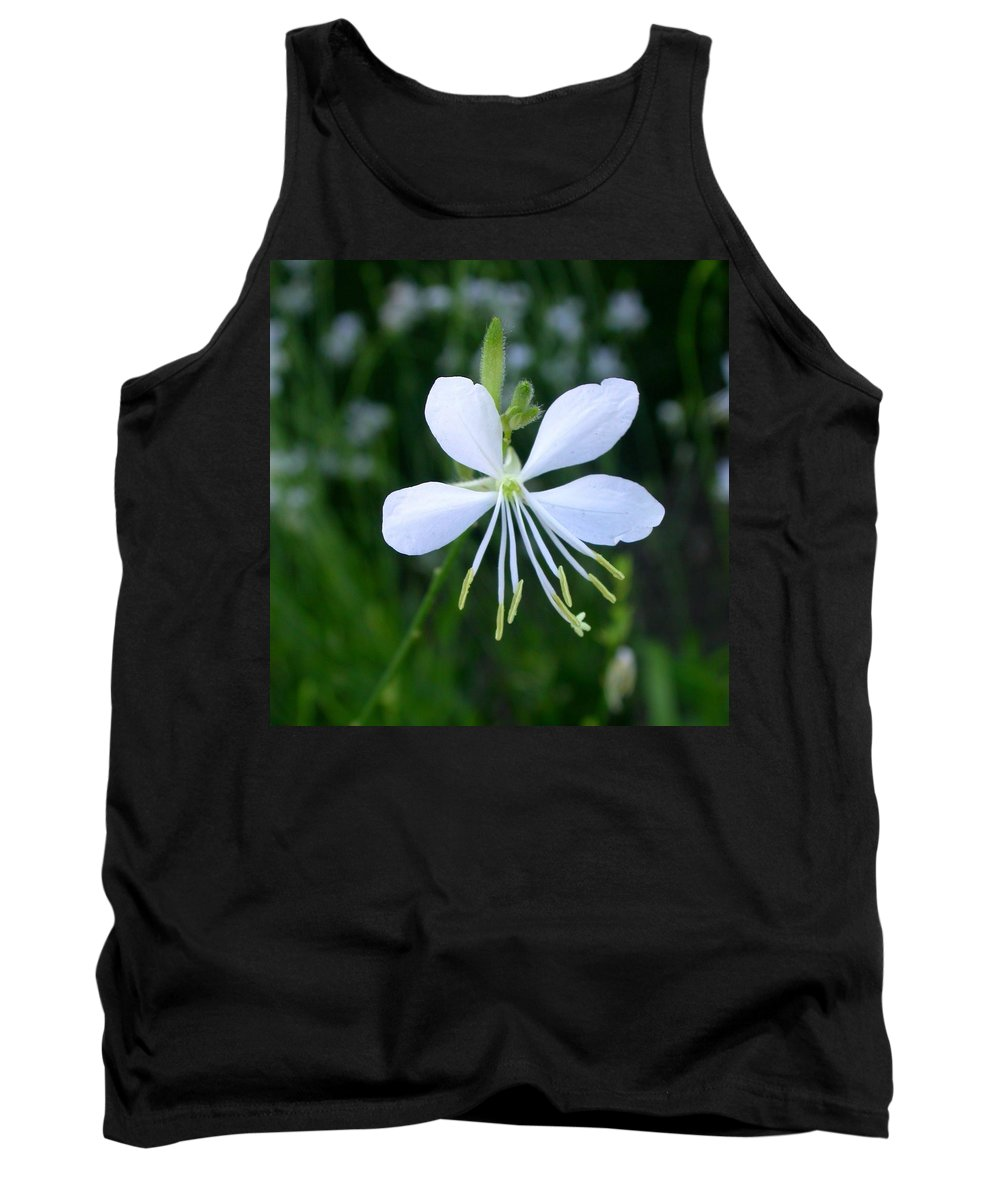Tank Top featuring the photograph Gaura Lindheimeri So White by Cynthia Wallentine