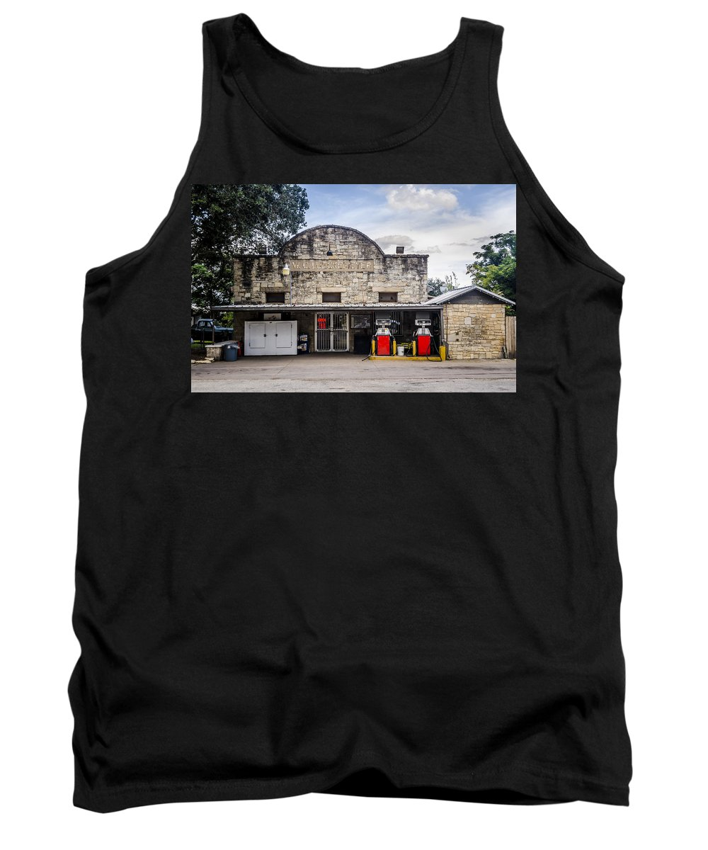 General Store In Independence Texas Tank Top featuring the photograph General Store In Independence Texas by David Morefield
