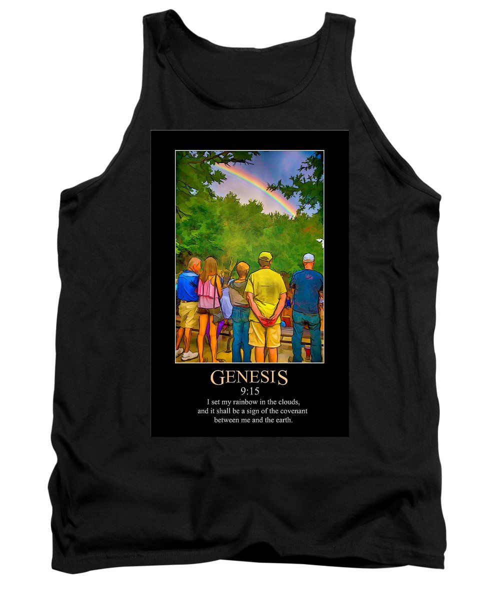 Bible Tank Top featuring the digital art Genesis 9 by John Haldane