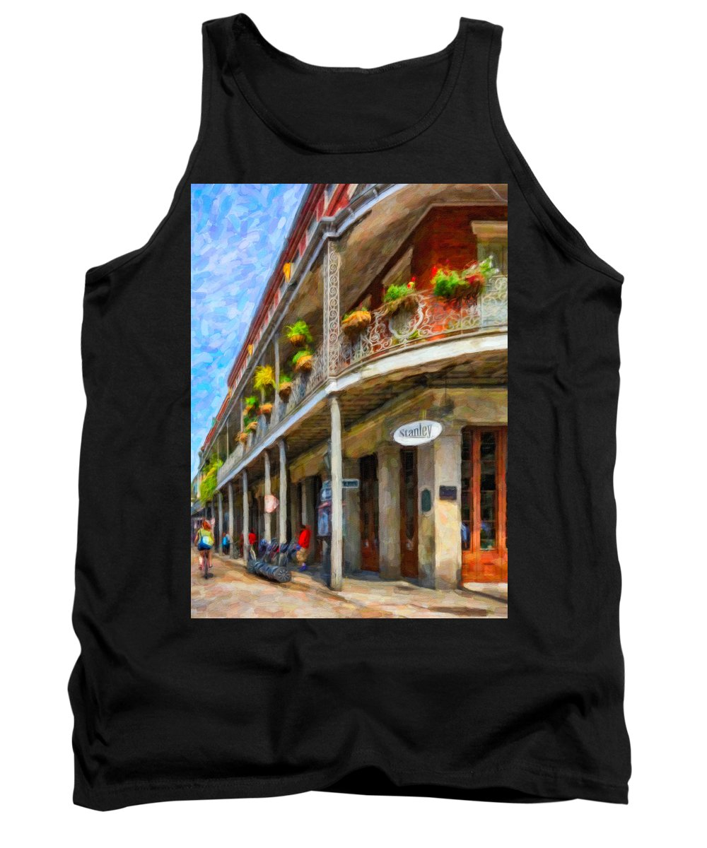French Quarter Tank Top featuring the photograph Getting Around The French Quarter - Watercolor by Steve Harrington