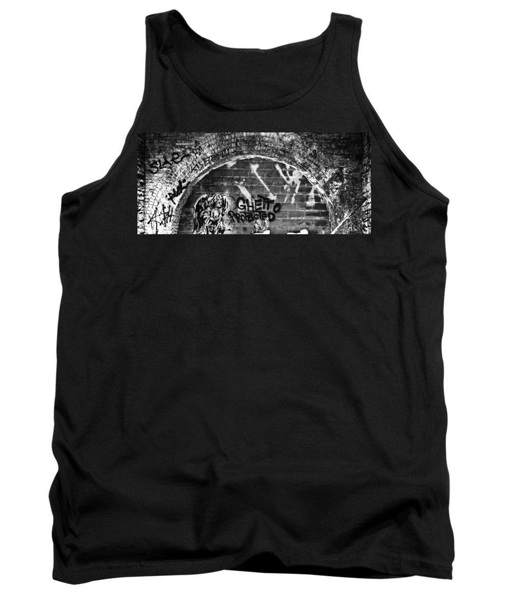 Blumwurks Tank Top featuring the photograph Ghetto Protected by Matthew Blum