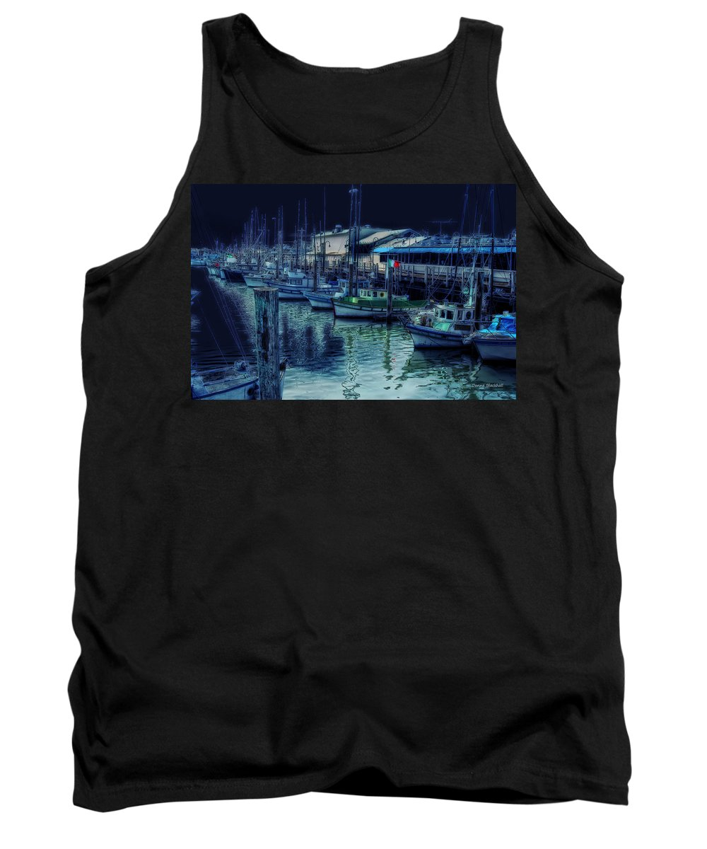 Marina Tank Top featuring the digital art Ghostly Marina by Donna Blackhall