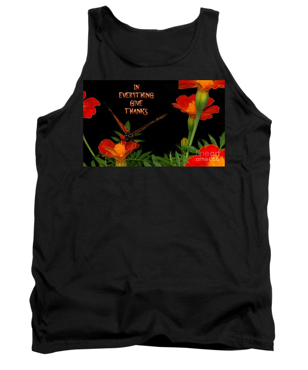 Give Thanks Tank Top featuring the photograph Give Thanks by Lydia Holly