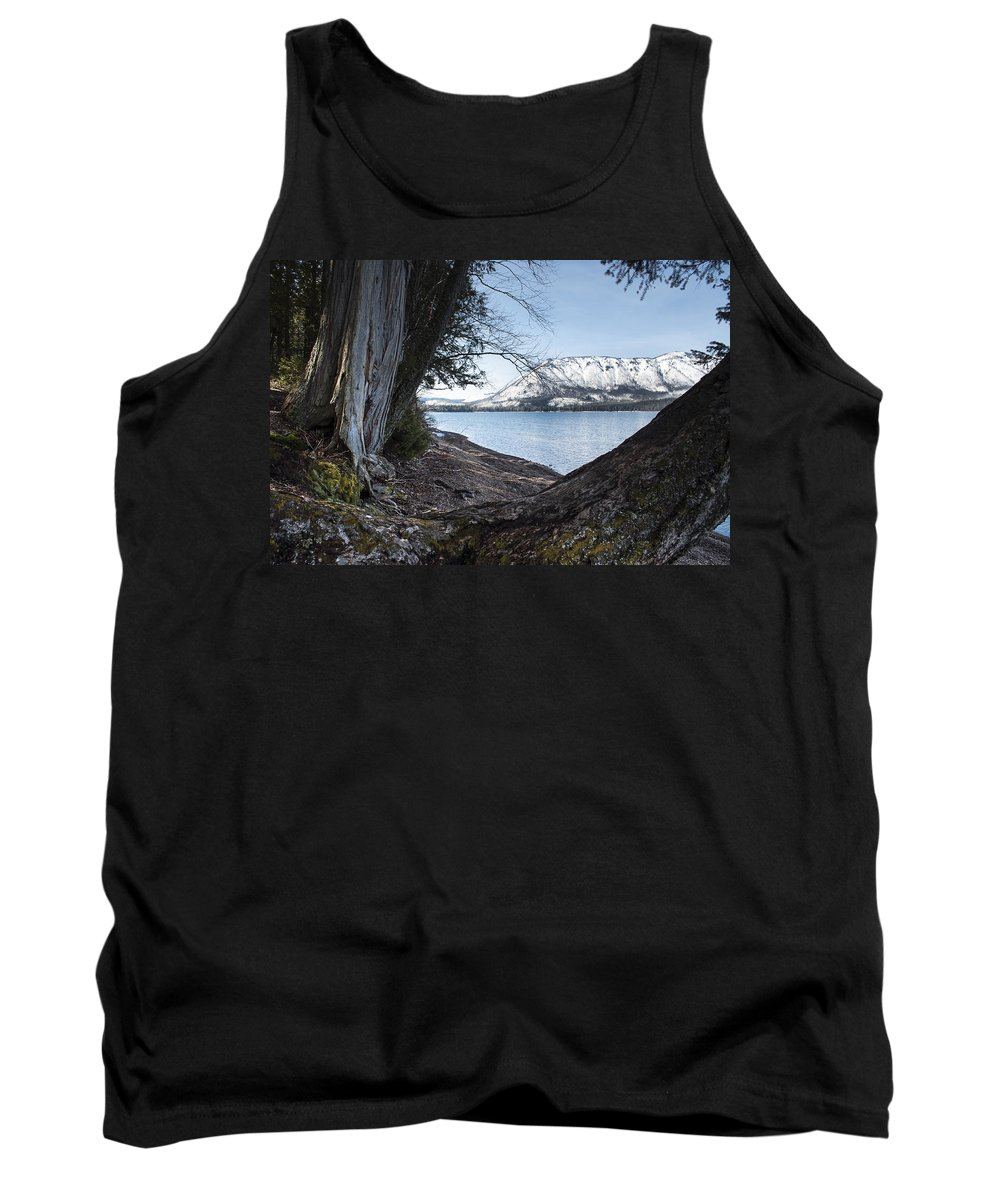 Fall Tank Top featuring the photograph Glacier Park View by Fran Riley