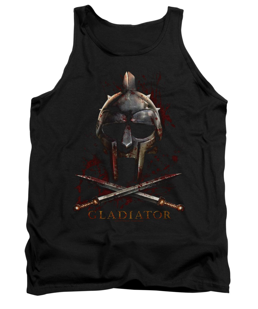 Gladiator Tank Top featuring the digital art Gladiator - Helmet by Brand A