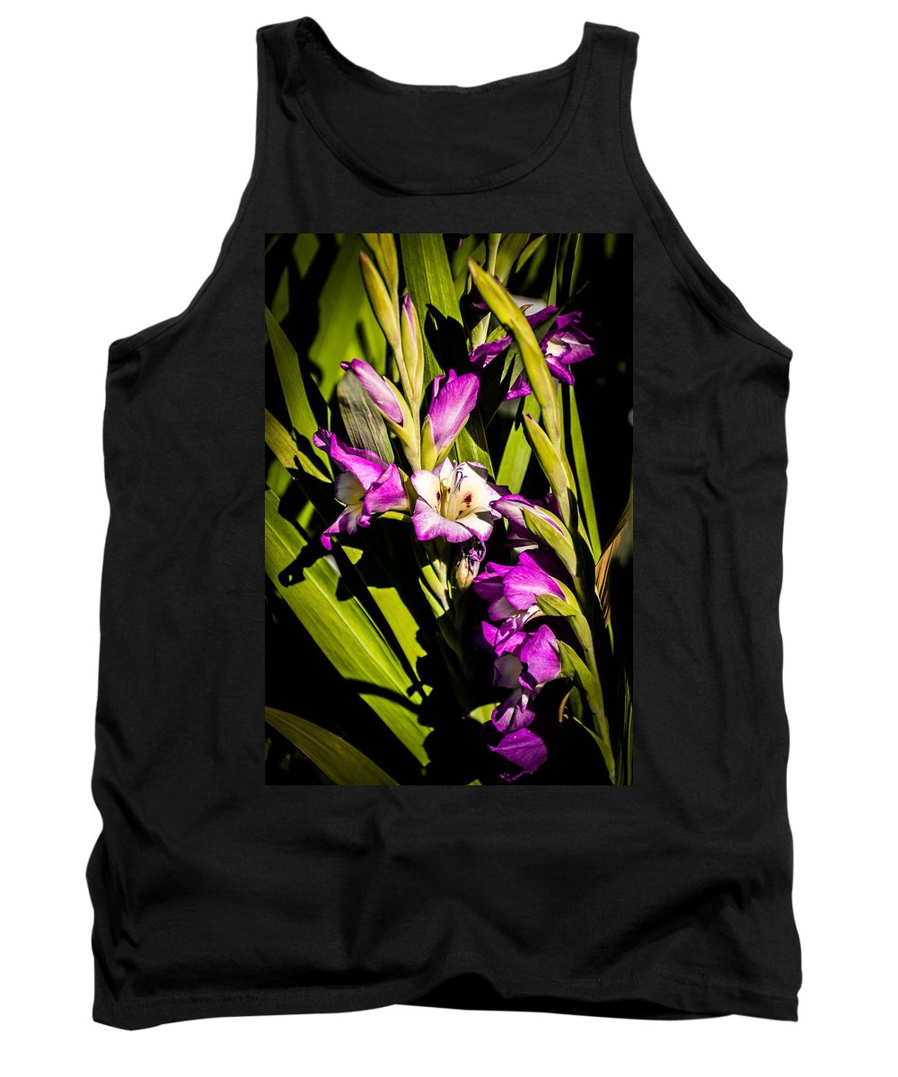 Flower Tank Top featuring the photograph Gladiolus by Sherman Perry