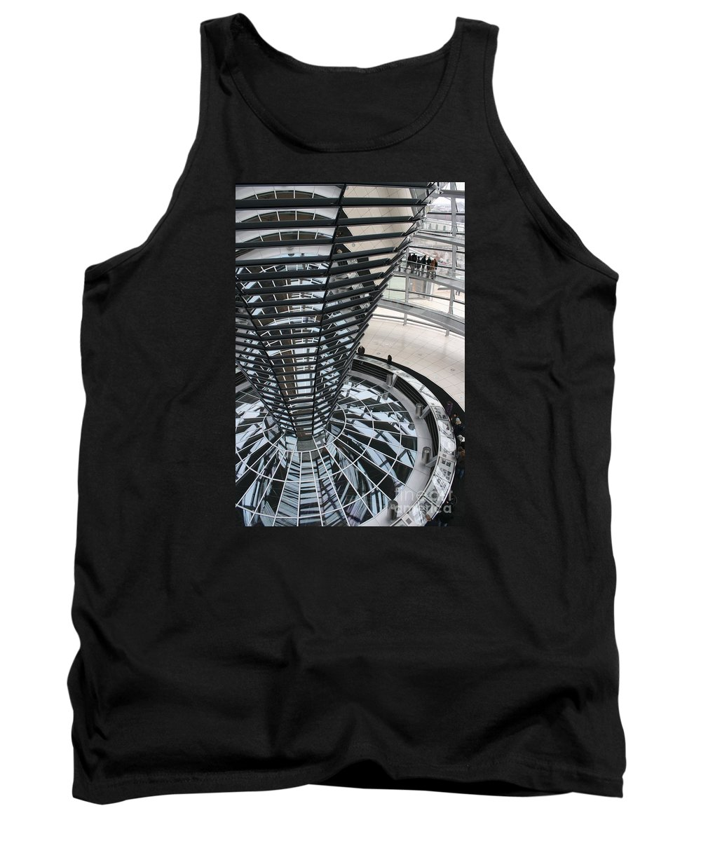 Glass Cupola Tank Top featuring the photograph Glass Cupola - Berlin by Christiane Schulze Art And Photography