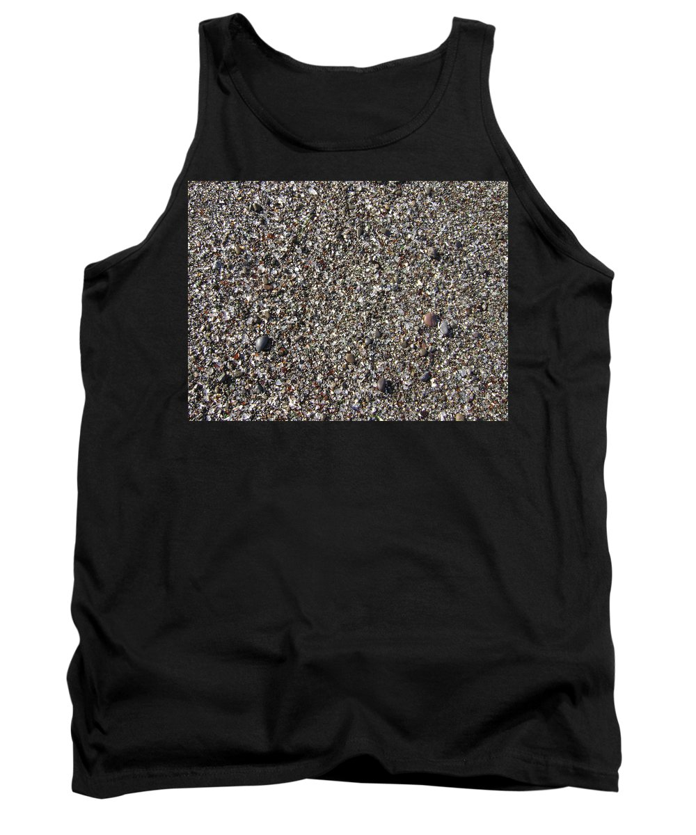 Fort Bragg Tank Top featuring the photograph Glass In The Gravel by Mike Niday