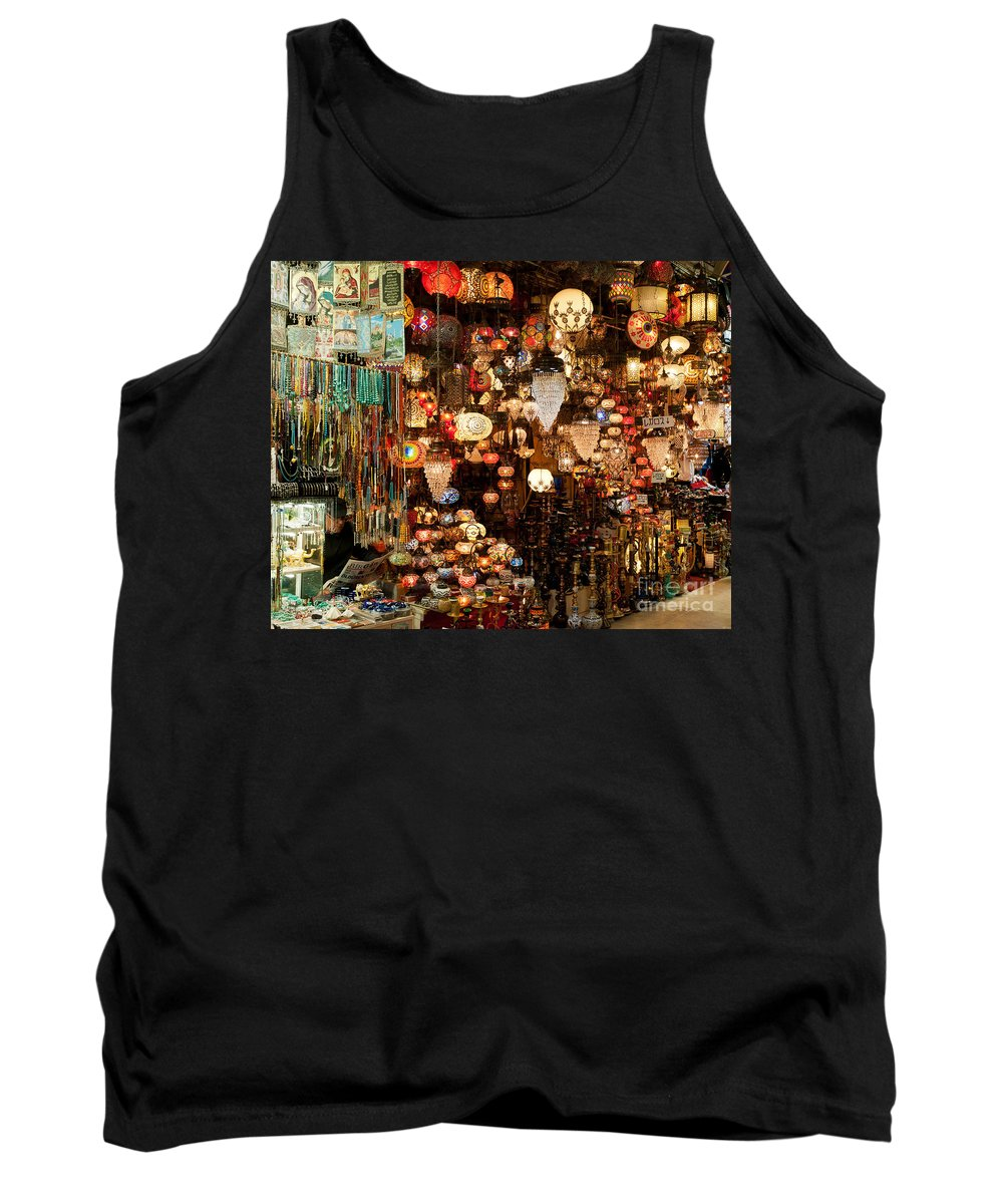 Istanbul Tank Top featuring the photograph Glass Lanterns 06 by Rick Piper Photography