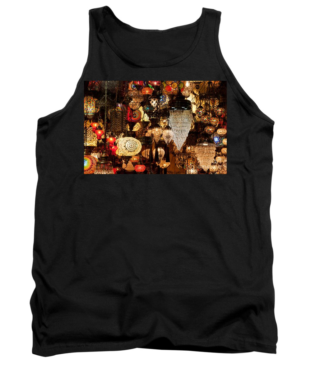 Istanbul Tank Top featuring the photograph Glass Lanterns 08 by Rick Piper Photography