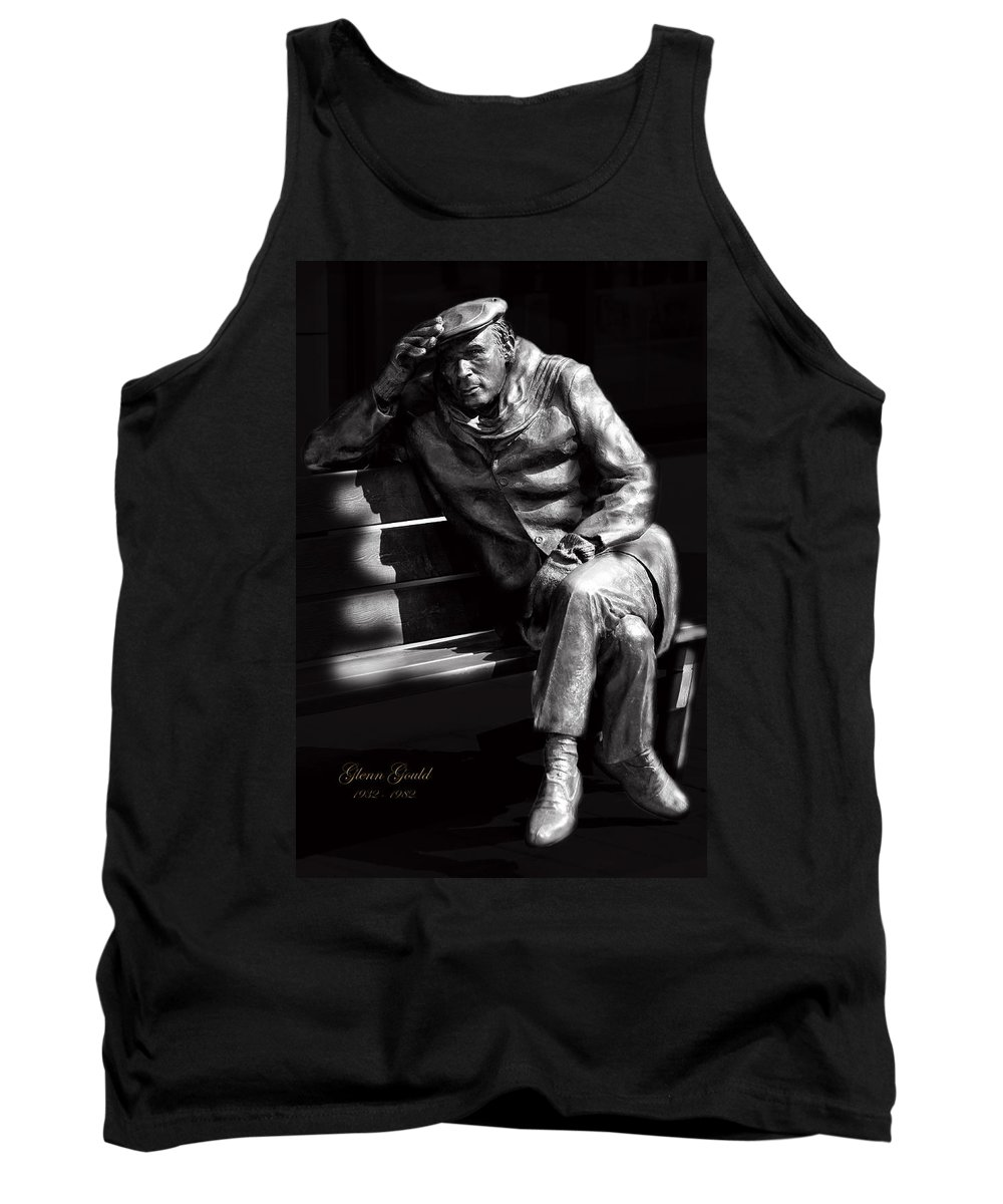 Pianist Tank Top featuring the photograph Glenn Gould by Andrew Fare