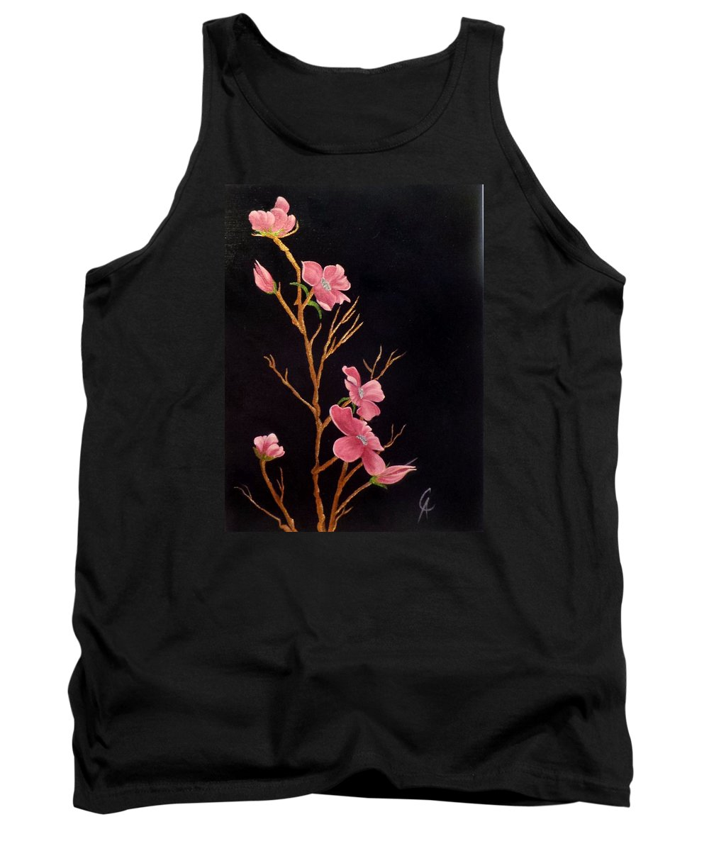 Glistening Tank Top featuring the painting Glistening Blossoms by Carol Avants