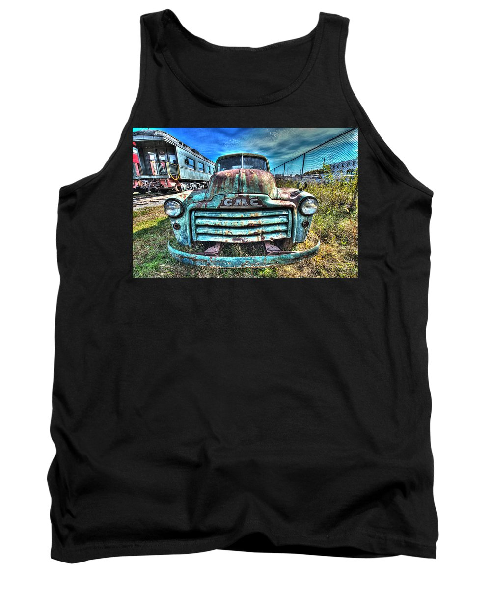 Historic Tank Top featuring the photograph Gmc Coal Truck 1950s No 3 by Greg Hager