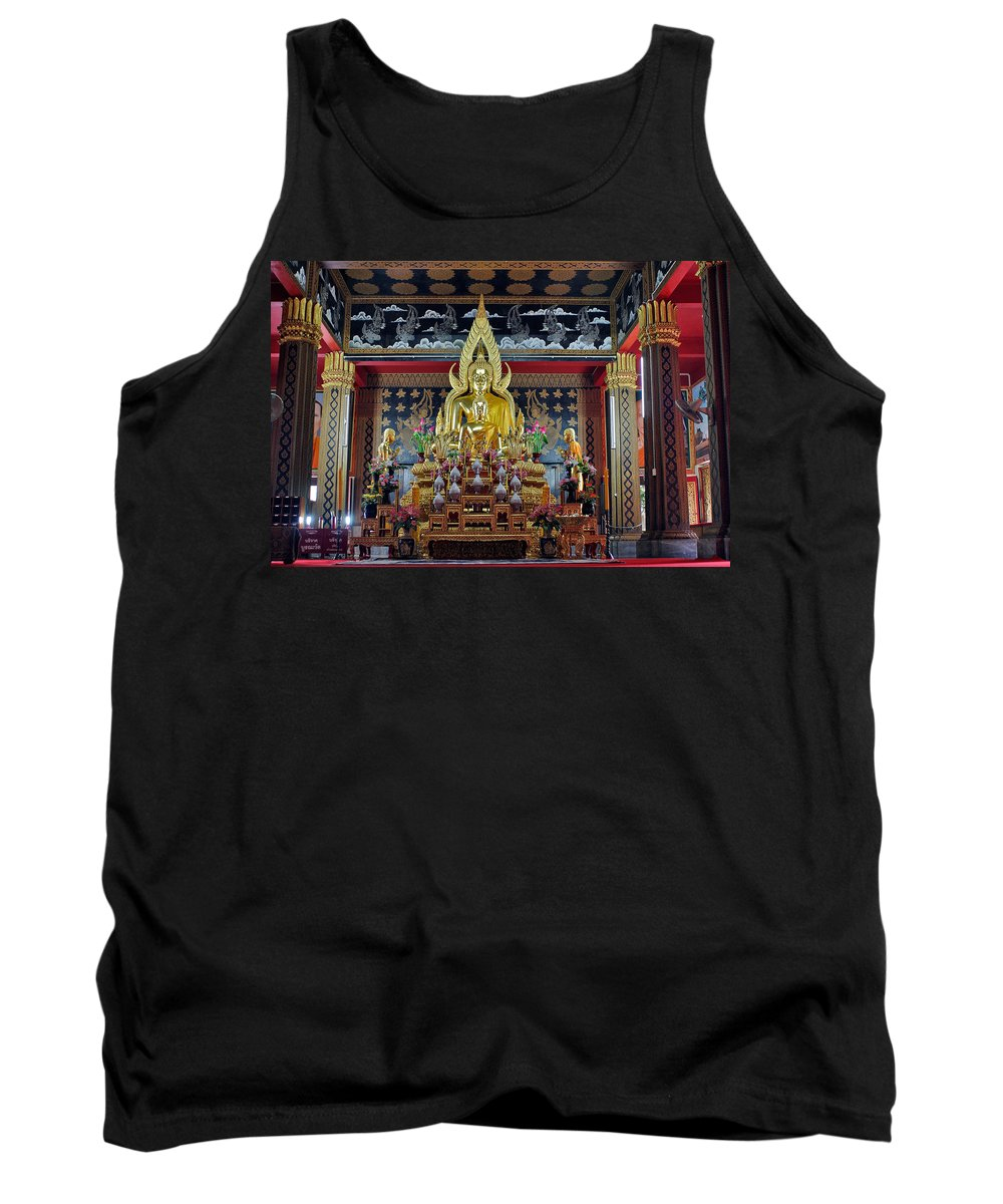 3scape Tank Top featuring the photograph Golden Buddha by Adam Romanowicz