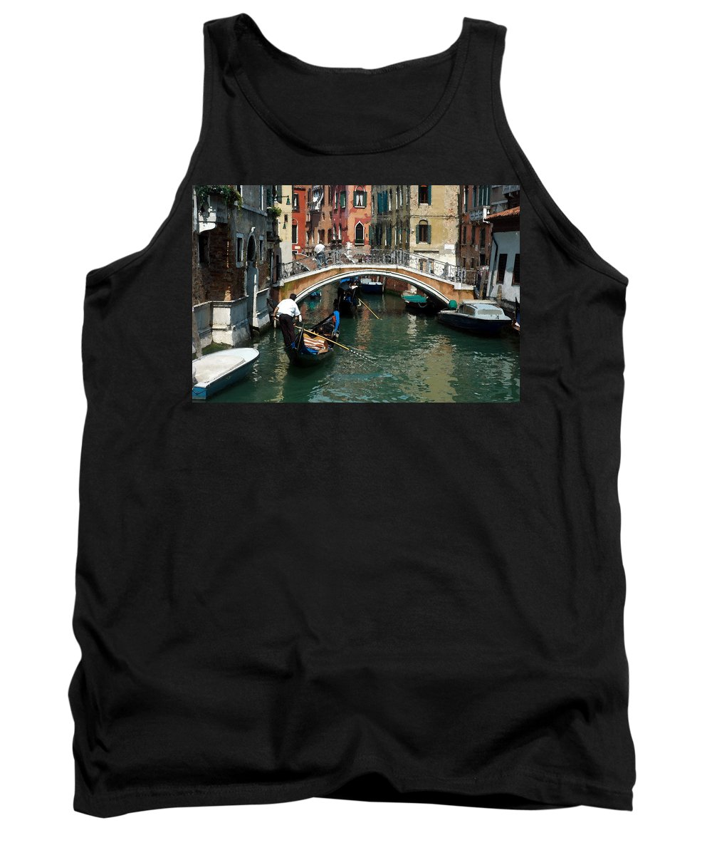 Bridge Tank Top featuring the photograph Gondola Ride by Kim Pin Tan